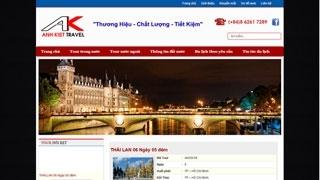 Thiết kế web công ty Du lịch Anh Kiệt