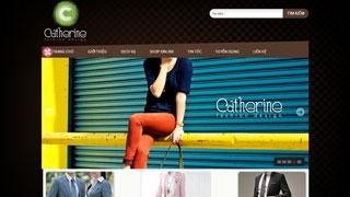 Thiết kế Web Thời Trang Catherine