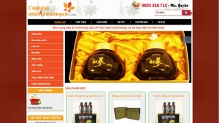 Thiết kế web Cửa hàng nhân sâm Hàn Quốc