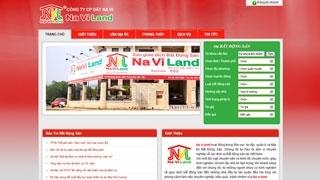 Thiết kế web Bất Động Sản Naviland