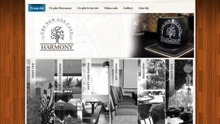 Thiết kế web Cà Phê Harmony