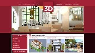 Thiết kế web site Công ty Kiến Trúc 3D