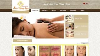 Thiết kế Web site Spa Sen Vàng